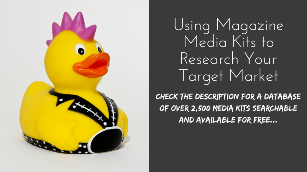 Using Magazine Media Kits for Market Research